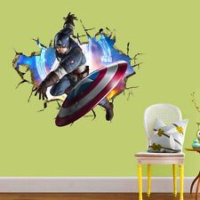 Captain America Avengers Marvel Wall Stickers Kids 3D Removabale Decal Vinyl