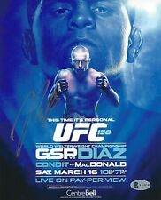 Nick Diaz Signed 8x10 Photo BAS Beckett COA UFC 158 GSP Poster Picture Autograph