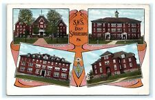S.N.S. East Stroudsburg Pennsylvania Pa Postcard Multiview 1921 Model School A3