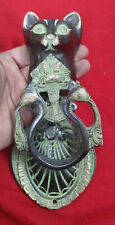 Antique Design Cat Shape Decorative Door Knocker Brass Bell Handmade Gift VR335