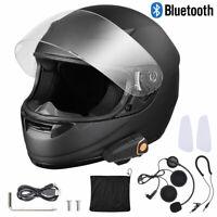 Bluetooth Motorbike Adult Full Face Helmet w/ Wireless Headset Intercom MP3 FM