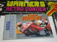 gp rider  sega game gear  Video game Manual only retro official