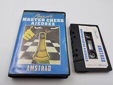 JUEGO CASSETTE MASTER CHESS AJEDREZ ESPAÑA AMSTRAD CPC 464.COMBINO ENVIO