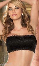 Bandeau dentelle haut noir taille XS / Sexy lace lingerie black top bra size XS