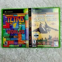 XBox LOT OF 2 Star Wars Clone Wars & Tetris Worlds Live Enabled