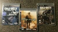 Lot of 3 Call of Duty Games - PlayStation 3 Bundle - MW2 Ghosts Advanced Warfare