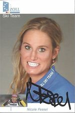 Autogramm Nicole Fessel Ski nordisch Langlauf original signiert  Zoll Ski