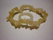 cristalloterapia BRACCIALE CALCITE GIALLA ORANGE + ANELLO braccialetto cristallo