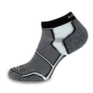 More Mile New York Running Socks Black Mens Womens Cushioned Sports Trainer Sock