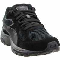 Puma Axis Plus Suede Sneakers Casual    - Black - Mens