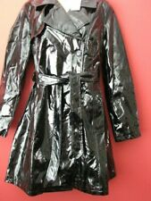 Plastic Mac, Raincoat  Mac PVC,Vinyl  TRENCH COAT  UK 14