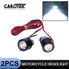 Pair Mini White 3SMD 5630 LED Car Moto DRL Spotlight Daytime Running Fog Lamp