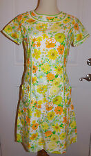 Lilly Pulitzer The Lilly Shift Dress Sz 10 Spring Floral Lace Trim Vintage
