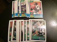 1990 & 1991 Topps San Diego Chargers Complete Team Set Lot SEAU RC 42 Cards LOOK