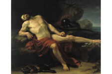 Oil Painting repro Francois-Xavier Fabre Dying Philoctetes on the island Lemnos