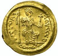 565-578 AD Justin II Gold Solidus Roman Byzantine Empire Sear 345 LCGS 40