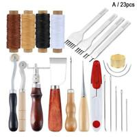 23x Leather Working Tool Kits Set Sewing Craft Supplies Stitching Making Groover