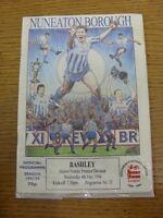 04/05/1994 Nuneaton Borough v Bashley  (Crease). Footy Progs/Bobfrankandelvis, e