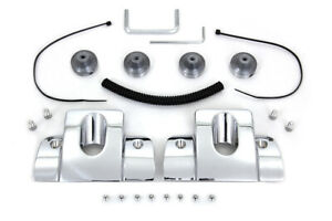 Smooth Style Chrome Spark Plug Head Blot Covers For Harley Twin Cam