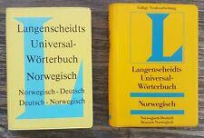 2 Langenscheidts Universal-Wörterbücher Norwegisch.