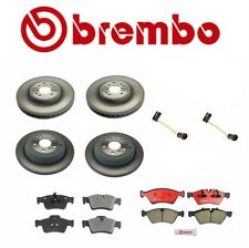 Set of 2 Front+2 Rear Brembo Brake Disc Rotors+Pads for Mercedes