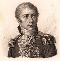 Général Honoré Vial Antibes Napoléon Bonaparte Premier Empire 1818 Leipzig