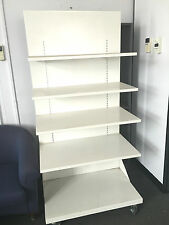 White single sided metal supermarket display shelving store display