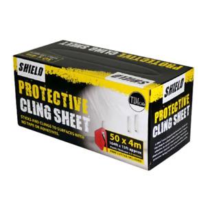 Timco 50 x 4 Shield Protective Cling Sheet 1 Pack (PCS504)