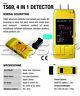 4 in 1 Wood Moisture Meter Stud/Metal/AC Wires Detectors Pinpoint Multifunction
