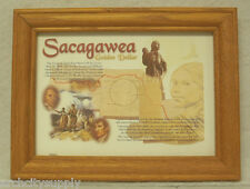 Coin Frame - Oak - Sacagawea Dollar - Map - #Al-Ofsacmap