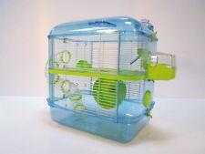 Fantazia Hamster enano jaula ratón grande Brillo Rosa, Azul, Rojo 2 y 3 Pisos