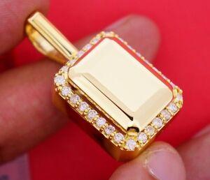1.70 Carat White Diamond & Center Gold Charm Pendant 10K Yellow Gold ASAAR Video