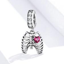 Women Love oath of ribs S925 Oxidized silver DIY Charms Fit European Bracelet