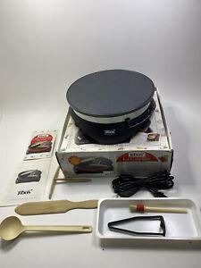 "Tibos Electric Crepe Maker - Made in France Krampouz 13"" Griddle With Utensils"