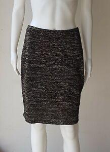 ZIMMERMANN Stretch Pencil Skirt Metallic Gold / Black SIZE 2 Designer Clothes