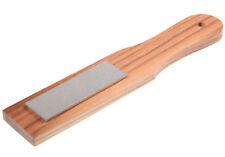 Eze-Lap Coarse Grit Pocket Sharpener Stone 150 1 x3 on a Walnut Paddle 24c