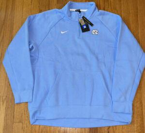 North Carolina Tar Heels UNC Nike Club Fleece Quarter-Zip Raglan Jacket NWT 2XL