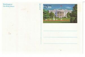 USPS picture postcard 15 cents MNH showing the White House