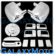 99-07 Ford Super Duty Chrome Mirror+4 Door Handle w/ PSG KH+Tailgate+GAS Cover