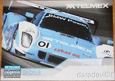2013 Ganassi Racing BMW Daytona Prototype Grand Am postcard Scott Pruett