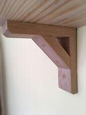 Handmade Wooden Gallows Shelf Bracket x 1 Oak 225x225mm