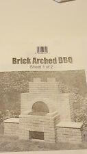 Brick Arched Bbq design plan