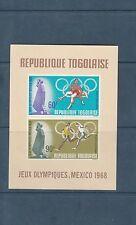 Togo bloc  jeux olympiques de Mexico    de 1968    num:  32   **