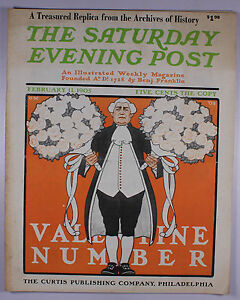 REPLICA The Saturday Evening Post February 11 1905 Cover Valentine Number   M159