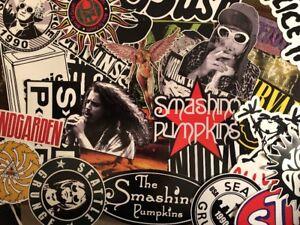 Grunge Rock Sticker Pack - Nirvana Soundgarden Alice In Chains Smashing Pumpkins