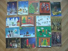 16 Weihnachtspostkarten, verschiedene Motive, ungelaufen
