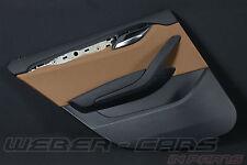 org BMW X1 E84 Türverkleidung Tür Verkleidung hinten links HL Leder magmabraun