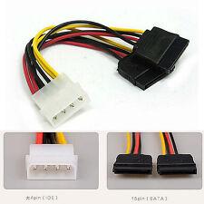 Cable Adaptador de Alimentacion Ide Molex a Sata Doble para Dos Discos SATA SSD