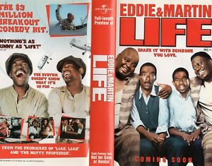 LIFE - Eddie & Martin - VHS - Time Coded - Dealer Preview - PAL - As new!!