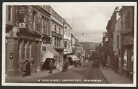 Winchester Hampshire. High Street, Looking East. Vintage Real Photo Postcard
